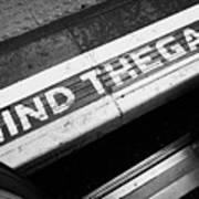 Mind The Gap Between Platform And Train At London Underground Station England United Kingdom Uk Art Print