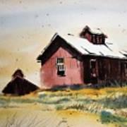 Mine Buildings Southern Cross Ghost Town Montana Art Print