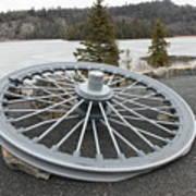 Mine Shaft Wheel Art Print