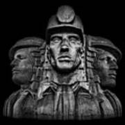 Miners In The Dark Art Print