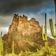 Miner's Needle In The Superstitions Art Print