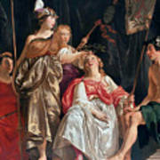 Minerva Crowns The Maid Of Leiden Art Print