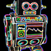 Mini D Robot Art Print