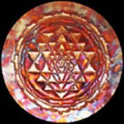Mini Sri Yantra Kupfer Lichtmandala  Art Print