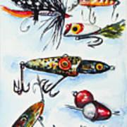 Mini Study- Fishing Lures Art Print