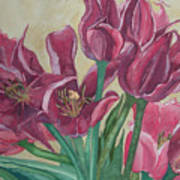 Mini-tulip Bouquet - 8 Art Print