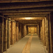 Mining Tunnel Art Print