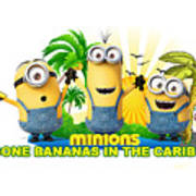 Minions In The Caribbean Art Print