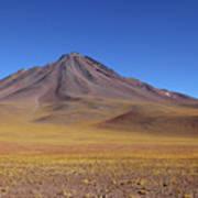 Miniques Volcano And High Altitude Desert Chile Art Print