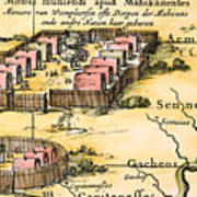 Minisink Village, 1650s Art Print