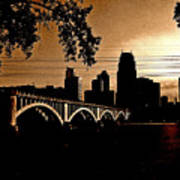 Minneapolis Skyline In Copper Art Print