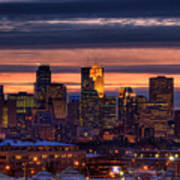 Minneapolis Skyline Art Print