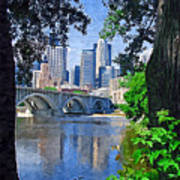 Minneapolis Through The Trees Art Print