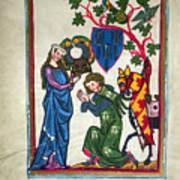 Minnesinger, 14th Century Print by Granger