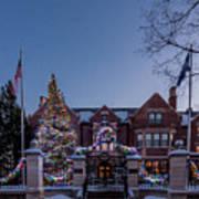 Christmas Lights Series #6 - Minnesota Governor's Mansion Art Print