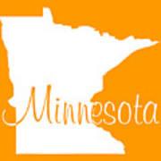 Minnesota In White Art Print