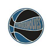 Minnesota Timberwolves Retro Shirt Art Print