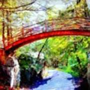 Minnewaska Wooden Bridge Art Print