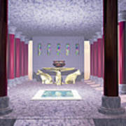 Minoan Temple Print by Corey Ford