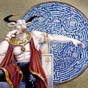 Minotaur With Mosaic Art Print