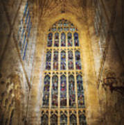 Minster Window Art Print