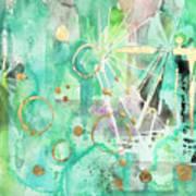 Mint Bling Art Print
