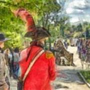 Minuteman And Redcoat Concord Ma Pencil Art Print