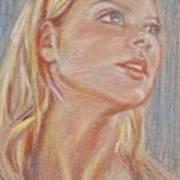 Mirando Arriba Art Print