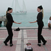 Mirror Mimes In Key West Art Print
