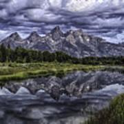 Mirrored Mountains Art Print