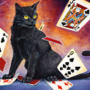 Mischief Kitten Art Print