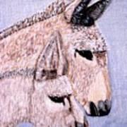 Mischievous Burros Art Print