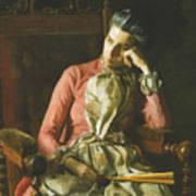 Miss Amelia Van Buren Art Print