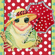 Miss Belle Frog Art Print