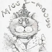 Miss E-mouse Art Print