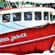 Miss Janice Art Print