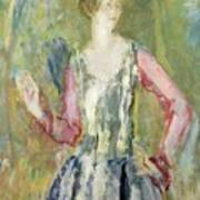 Miss Nancy Cunard Art Print by Ambrose McEvoy