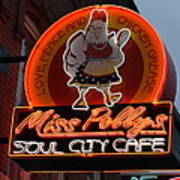 Miss Polly's Soul City Cafe Art Print