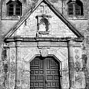 Mission Concepcion Entrance - Bw Art Print