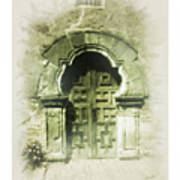 Mission Espada Chapel Door Art Print