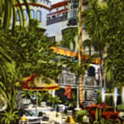 Mission Inn Spanish Patio 1940s Art Print