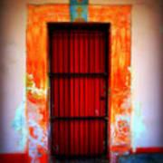 Mission Red Door Art Print