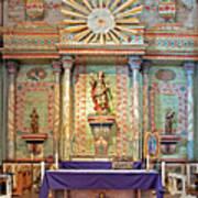 Mission San Miguel Arcangel Altar, San Miguel, California Art Print