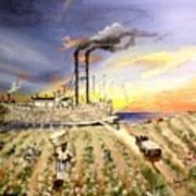 Mississippi Cotton Boat Art Print by Terri Kilpatrick
