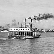 Mississippi River Ferry Boat Art Print
