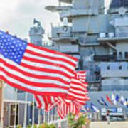 Missouri Battleship Memorial Flags Art Print