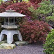 Missouri Botanical Garden A Japanese Snow Viewing Lantern Spring Time Dsc01783 Art Print