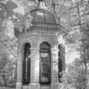 Missouri Botanical Garden Henry Shaw Crypt Infrared Black And White Art Print