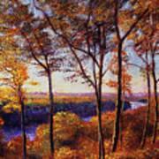 Missouri River In Fall Art Print