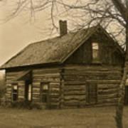 Missuakee County Log Cabin Art Print